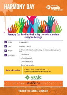 Harmony Day Food festival, a day to celebrate where everyone belongs.