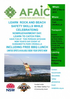 ROCK FISHING - BEACH SAFETY - LEARN TO CATCH FISH- SAFELY—-FAMILY BBQ AT CRONULLA