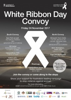 The annual White Ribbon Day Convoy 2017