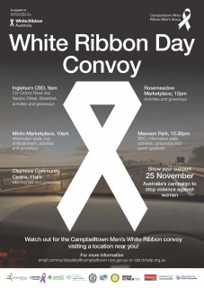 Please Join Us Wednsday 25th November White Ribbon day Convoy