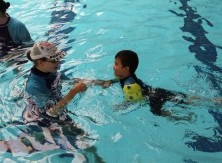 Helping kids swim